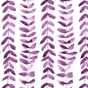 watercolor bindweed plant painted vines for modern home decor a114-4