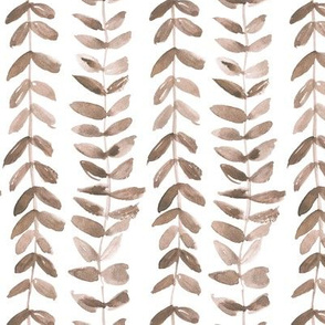 Earthy boho watercolor bindweed plant painted vines for modern home decor a114-5