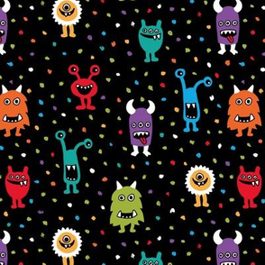 Super freaky monsters cool quirky fantasy creatures gender neutral multi color
