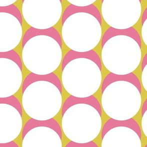 Jumbo Dot / gold & pink