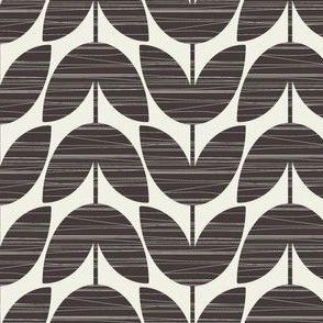 Crosshatched Stems / black & white