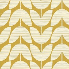 Crosshatched Stems / gold