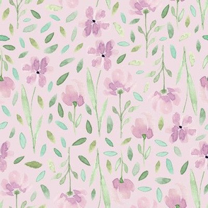 Lilac Wildflowers - Watercolor