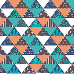 Triangular abstract patchwork