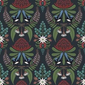 Australian Flora Damask. Coloured