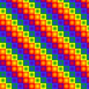 Rainbow Squares Bright