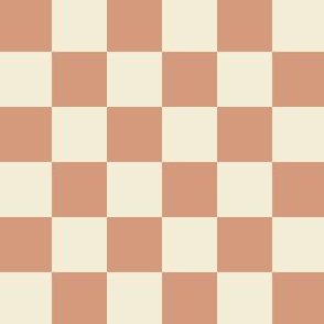 Checkered 1 inch - Tan and Ivory