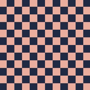 Checkered Half inch Pink and Navy