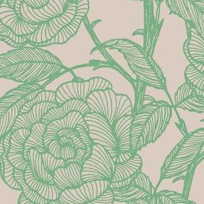 Soft Green English Roses