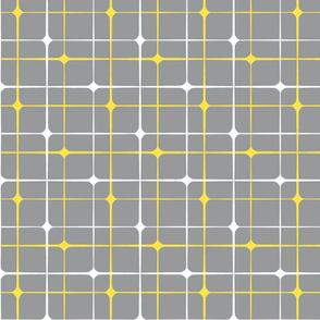 "Squares on grey, XL, 21"""