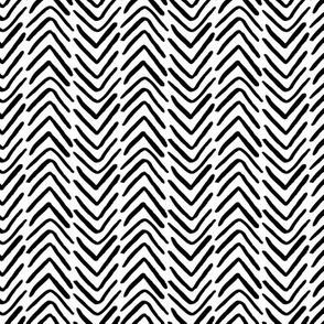 black and white brush stroke herringbone