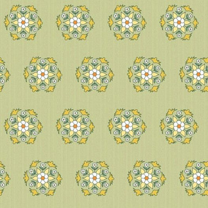 geometric rosettes with flowers small
