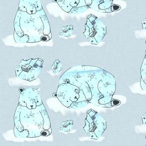 Floating polar bears