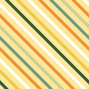 colorful diagonal stripes on yellow large