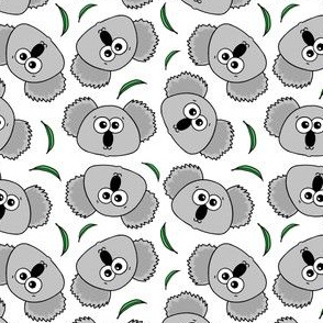 Cute Koalas - on white
