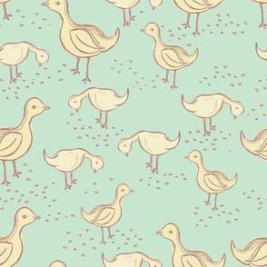 Little Duckies - Apple Green