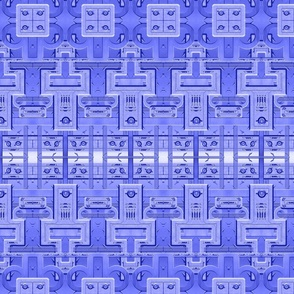 Industrial Circuit Board Large Print Blue