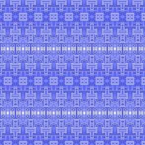 Industrial Circuit Board Blue - Small Print