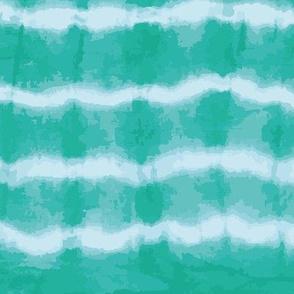 emerald green horizontal shibori tie dye srtipes