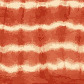 rusty orange horizontal shibori tie dye rtipes