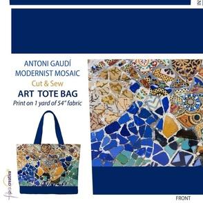 Gaudi Mosaic Tote bag Cut and Sew 1 yard panel