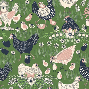 Spring Chickens // OLIVE // LARGE
