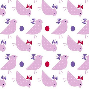 Pink Polka Dotted Chicks