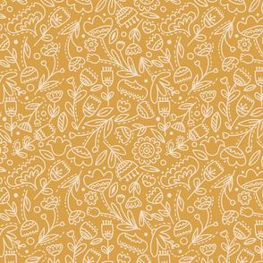Floral Doodle on Honey