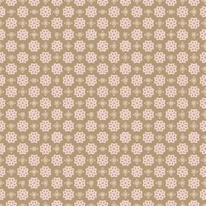 geometric ochre floral