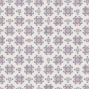 stamp pink blue floral