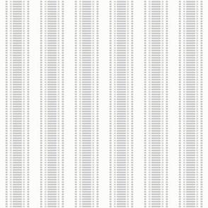 "Grosgrain Stripe: Gray & White 3/4"" Stripe"