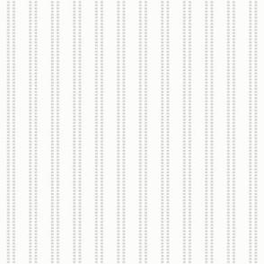 Seeded Stripe: Gray & White Thin Stripe, Beaded Stripe