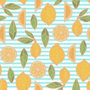 lemons on stripes