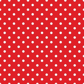 Red With White Polka Dots - Medium (Rainbow Collection)