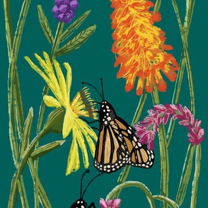 Monarchs Amid the Blooms