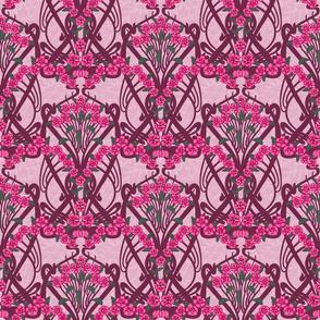 Art Nouveau Pink Garland-- Larger