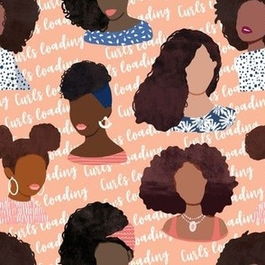 Curls loading African American black girls