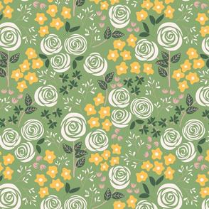 Rose Garden in green