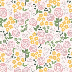 Rose Garden in white