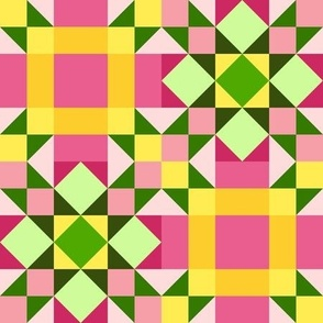 Bitter and Sweet Star Chains Quilt (#7)