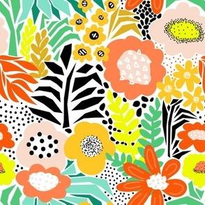 Modern Flower Field Abstract Florals