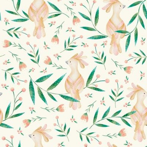 Sweet Little Bird, Flowers and Berries - Vanilla