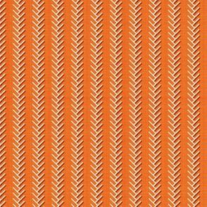 Rust farmhouse herringbone stripe