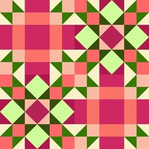 Bitter and Sweet Star Chains Quilt (#8)-