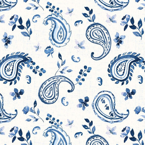 watercolour paisley scatter