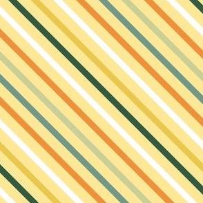 colorful diagonal stripes on yellow small