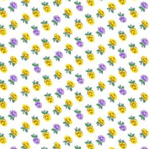 Dainty Rose Small, Yellow & Purple