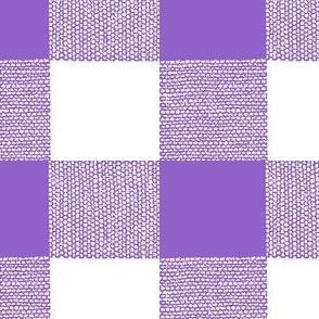 Purple Gingham XL