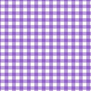 Purple Gingham Small