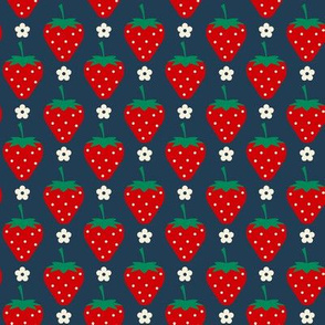 Strawberry and daisies ( small )